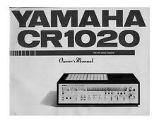 Yamaha CR-1020 Receiver Owners Manual