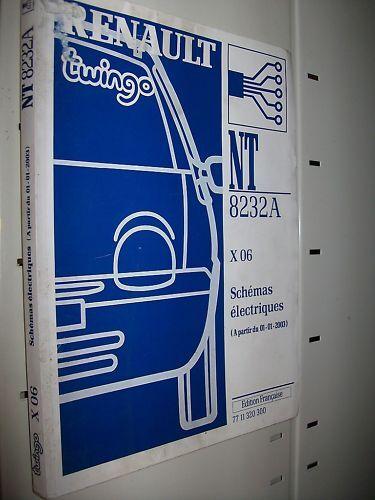 schémas électriques TWINGO 2003 NT8232