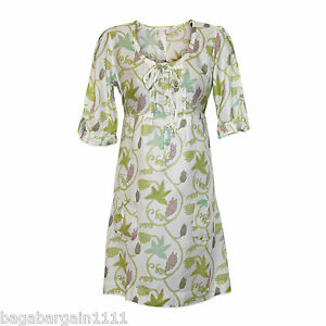 NEW-WHITE-STUFF-PURPLE-GREEN-BROWN-IVORY-SUMMER-TUNIC-SUN-DRESS-KAFTAN-FLORAL