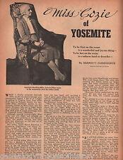 Miss Cozie Of Yosemite-Gertrude Hutchin Mills+Genealogy