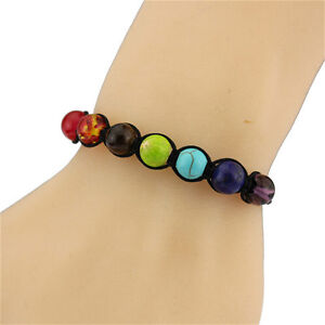 7 Chakra Healing Balance 8 mm Beads Bracelet For Men Women Prayer Stones New 1pc