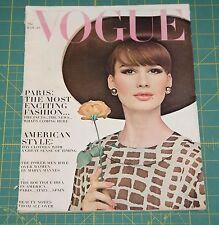 March Vogue 1964 Rare Vintage Vanity Fair Fashion Design Collection Magazine