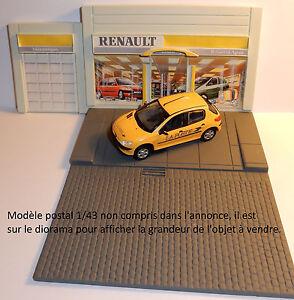 Rare norev diorama garage renault pour modeles 1 43 decor for Garage renault ile verte