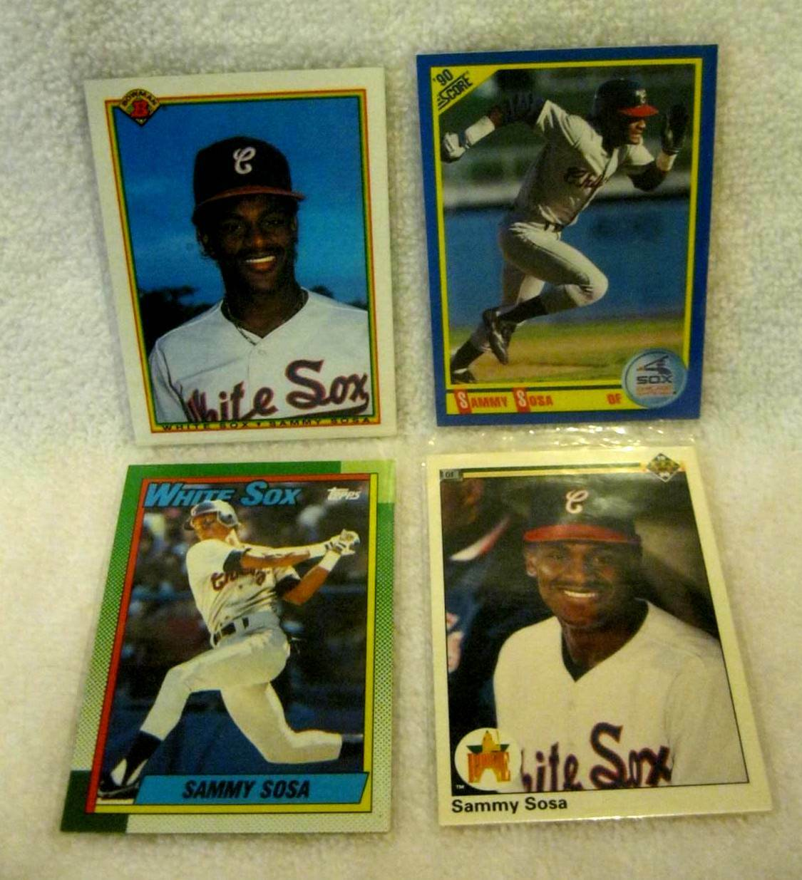 SAMMY SOSA RC 1990 BOWMAN,SCORE,TOPPS,UPPER DECK ROOKIE