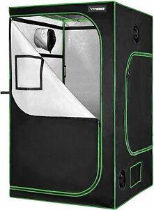 "VIVOSUN 48""x48""x80"" Mylar Hydroponic Grow Tent with Window and Floor Tray 4' x4'"