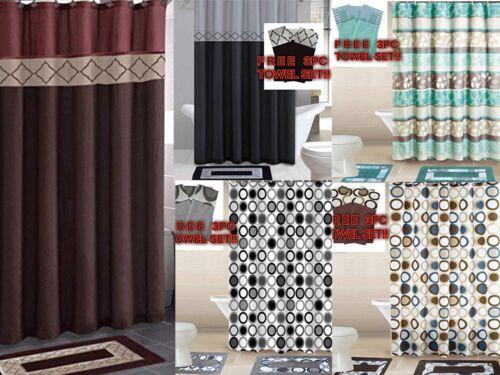 Empire Home 15-Piece Bathroom Accessory Bath Mat Sets+ FREE 3-PIECE TOWEL SET