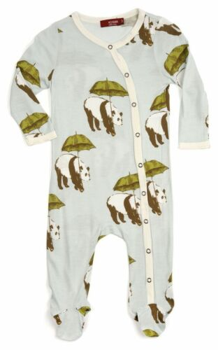 Milkbarn Infant Baby Footed Romper Blue Panda 18-24 Months Brand New