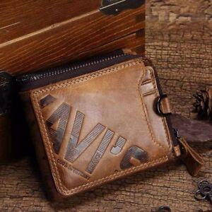 Cartera-de-Piel-Genuina-Hombre-Monedero-Portafolio-Pequeno-Bolsa-Dinero