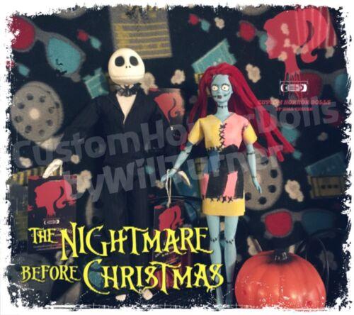 SALE Jack /& Sally CUSTOM HORROR DOLLS Nightmare Before Christmas OOAK
