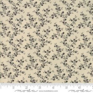 """By 1//2 Yd Andover//Jo Morton B05 /""""Bridgeport/"""" Browns on Gold Quilting Cotton"""