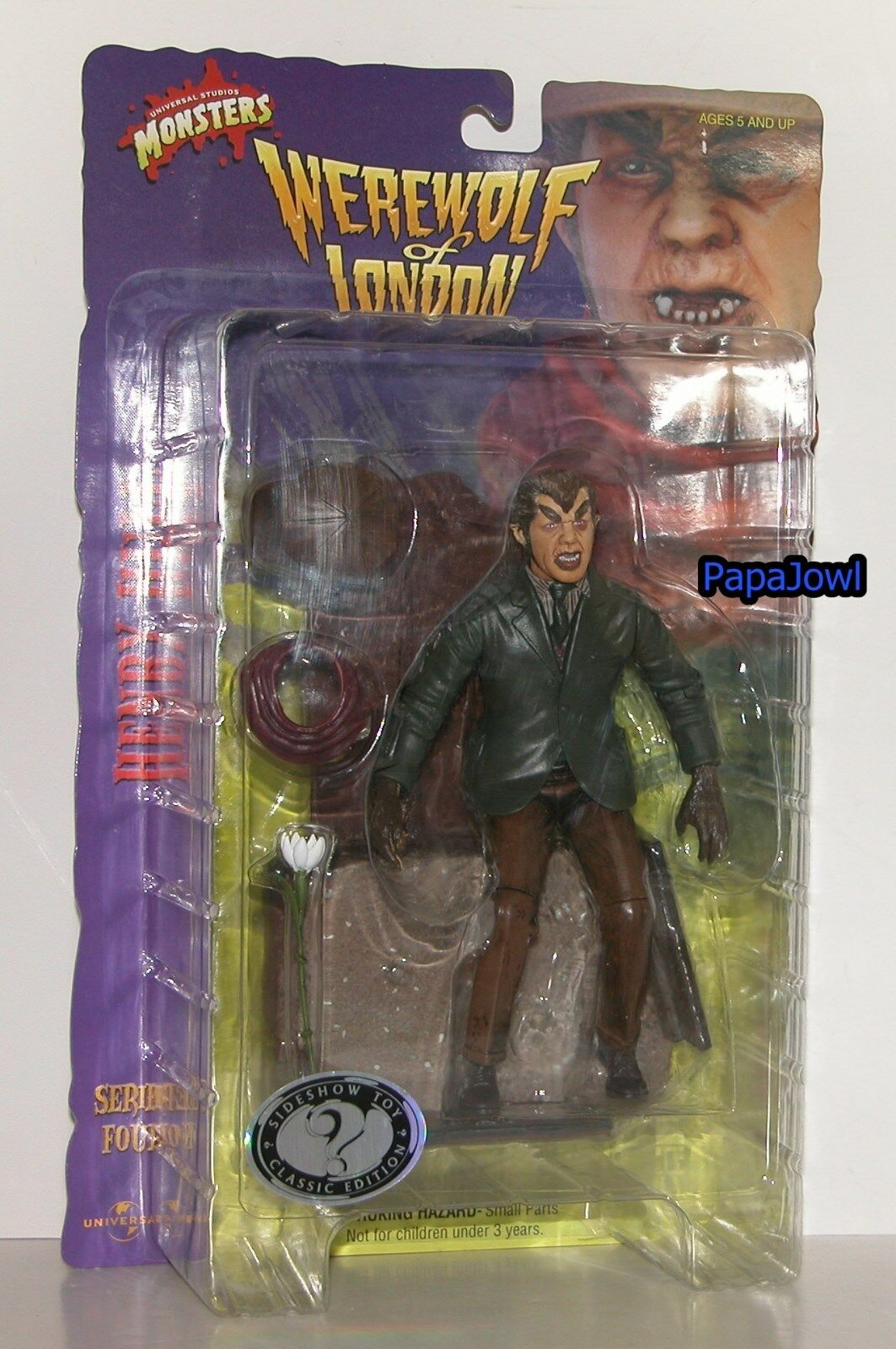 Universal Studios Henry Hull Werewolf Of London Figure 8  SideShow Toys Series 4