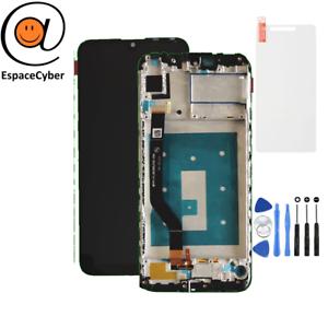 LCD-Ecran-tactile-Huawei-Y7-2019-Enjoy-9-Noir-Chassis-Frame-Cadre-DUB-LX1