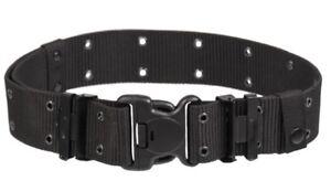 US-LC2-Lochkoppel-mit-DURAFLEX-SCHNALLE-Tactical-Belt-Koppel-schwarz-Black
