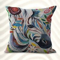 Us Seller-cheap Throw Pillow Sets Colorful Animal Zebra Cushion Cover