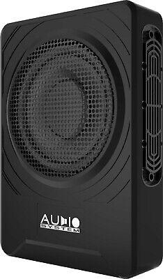 Ampire ACTIVE10-SL Aktiv-Subwoofer 25 CM Basskiste Underseat-Woofer Flacher Bass