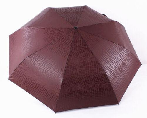 Compakt pieno automaticamente grande ombrello con manico in similpelle tendenza 2017