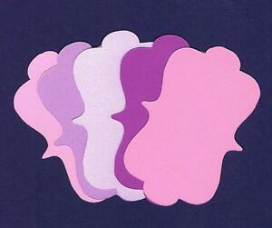 25-Blank-Vintage-Pink-amp-Purple-Tags-Labels-Cardstock-Wedding-Scrapbook-Frame