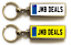 miniature 29 - Personalised Metal Double Sided Registration Number Plate Keyring Any Name /Text