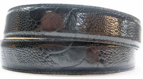 Argent Sterling 925 Boucle Avec Véritable Autruche 30 mm Ceinture par SHANTPETER U.S.A.