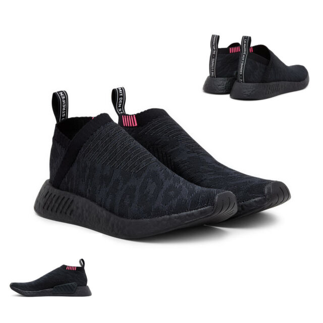 Details zu ADIDAS NMD CS1 PK TRAINERS CITY SOCK PRIMEKNIT CHUKKA MENS BLACK Sneakers UK 10