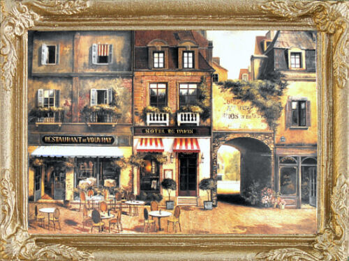 PARIS CAFE Dollhouse Picture FAST DELIVERY!! Miniature Art MADE IN AMERICA