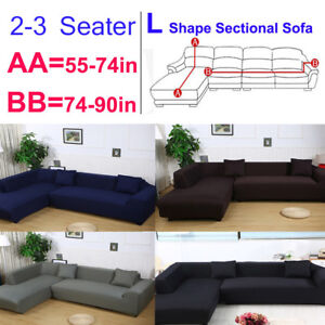 Details about Large 2 Seater+3 Seater 3+3 L Shape Sectional Corner Sofa  Cover Couch Slipcover
