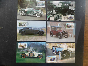 Jersey 1989 Vintage Cars Maximum Cards