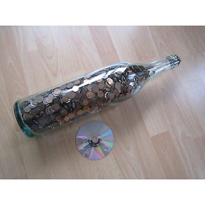 3 - Liter - Flasche gefüllt mit Ein- und Zweipfennigmünzen, 12 kg