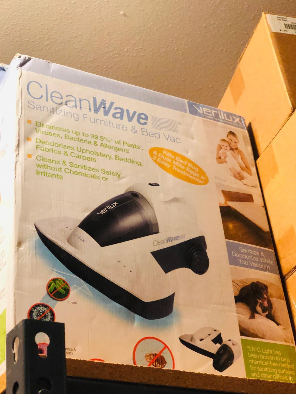 NEW Verilux CleanWave Sanitizing Portable Vacuum UV Technology 400-Watt Motor