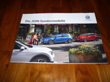 VW Sondermodell JOIN Prospekt 11/2017 VW Up / Golf / Touran / Tiguan / Sharan