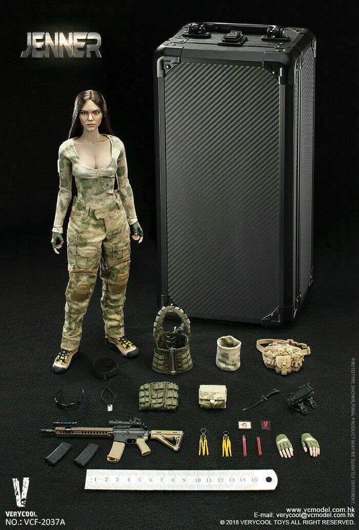 VERYCOOL VCF-2037A 1 6 Ruins Camouflage Female Soldier JENNER Set Action Figure