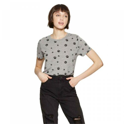 NWT Modern Lux Dog Paw Print Short Sleeve Round Neck T-Shirt JT17028 K9921A