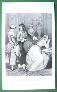 GIRLS-Happiness-Better-than-Wealth-VICTORIAN-Antique-Print