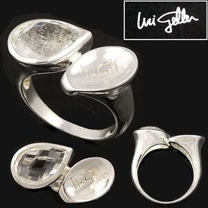 Uri-Geller-Damenring-Silberring-Loeffel-Ring-Bergkristall-925er-Silber-Gr-19-60