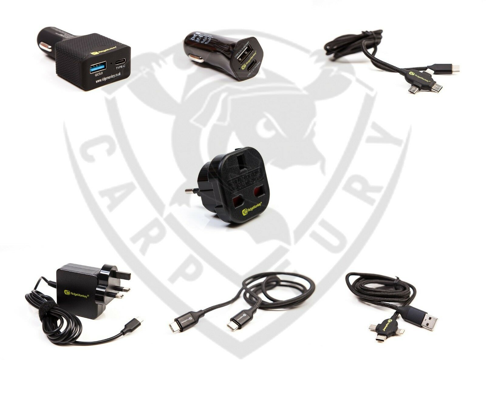 New Ridgemonkey Ridge Monkey Vault USB-C USB-A  Multi Out Cable Charger Adaptor  large discount