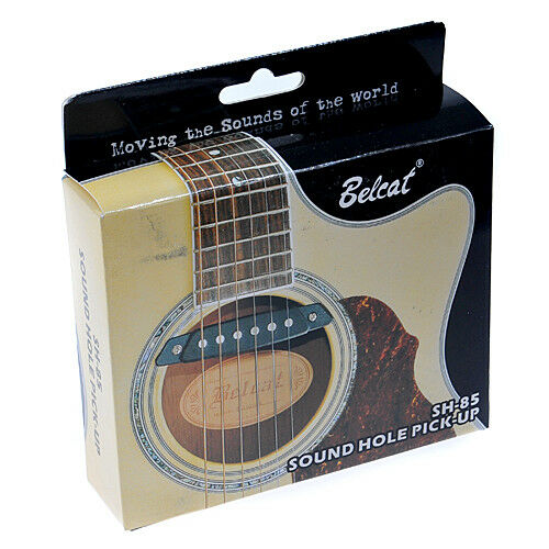 Belcat White Soundhole Pickup With Active Power Jack For Acoustic