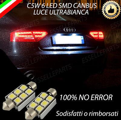 COPPIA LUCI TARGA 6 LED AUDI A4 B8 AVANT CANBUS NUOVO MODELLO 100/% NO AVARIA