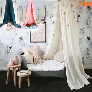 Canopy Bed Netting Mosquito Bedding Dome Baby Kids Girls Reading Play Tents US