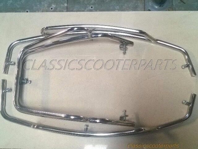 Vespa front fender cowl protectors crash bars set P PX VNX VSX STELLA V8412