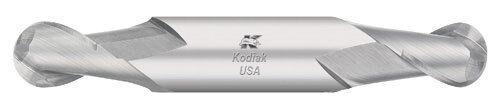 Kodiak 7//32 Dia Stub Ball Nose Double-End Carbide End Mill 2 Flute Made in USA