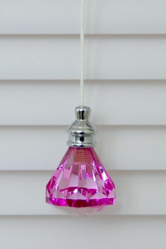 Roman Shade One of Gorgeous Acrylic Crystal Diamond Window Blind Shade Pull