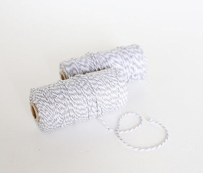 100M Grey And White Bakers Twine Divine Wedding String Cotton