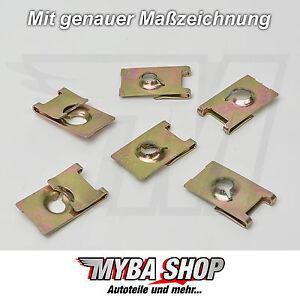 5 x Universal Metal Bracket Clamps Clamp Nut 25 X 14,5 UNI #NEW#