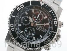 NEW SEIKO SNA225PC(SNA225P1) Chronograph Quartz Watch for MEN Free/S from JAPAN