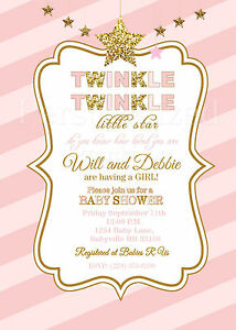 Image Is Loading Le Little Star Baby Shower Invitations In