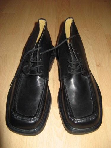 Nueva En Caja De Cuero Negro Botas al tobillo de moda Morena GABBRIELLI Talla 8 UK 42 EU