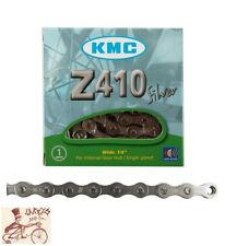 """KMC Z410 1/8"""" Single Speed Bicycle Chain Silver 112l"""
