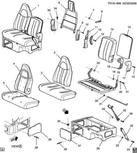 03-09 Topkick//Kodiak C4500-C8500 Passenger Seat Side Access Cover Panel 15181787