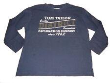 Tom Tailor tolles Langarm Shirt Gr. 128 blau mit Druckmotiv !!