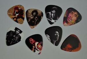 jimi hendrix guitar picks 8 lot set new double sided image picture free ship ebay. Black Bedroom Furniture Sets. Home Design Ideas